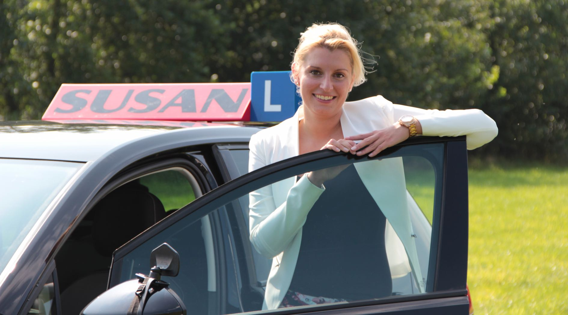 rijles instructrice Susan